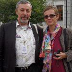 Cu poetul si traducatorul Veacslav Kuprianov. Mosova 2014